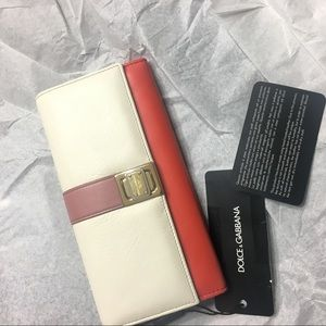 Dolce & Gabbana Leather Clutch Continental Wallet